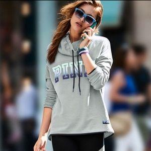 PINK Ombre Cowl Neck Sweatshirt